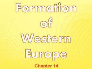 Formation  of  Western Europe