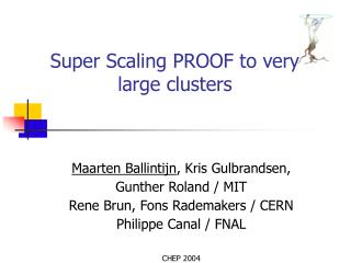 Super Scaling PROOF to very large clusters
