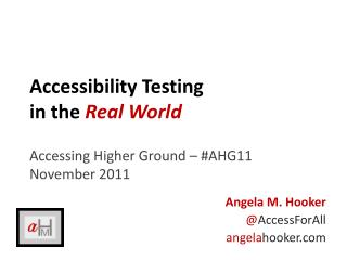 Accessibility Testing in the Real World