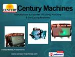 Manufacturer  Exporter of Cutting, Punching   Die-Casting Machines
