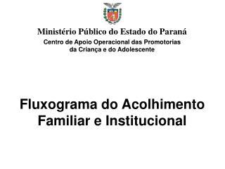 Fluxograma do Acolhimento Familiar e Institucional