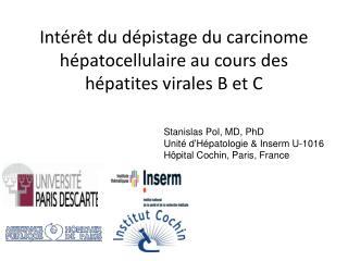 Int r t du d pistage du carcinome h patocellulaire au cours des h patites virales B et C