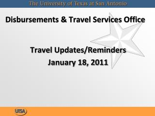 Disbursements  Travel Services Office