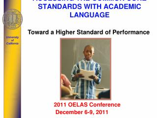 ACCESSING THE COMMON CORE STANDARDS WITH ACADEMIC LANGUAGE