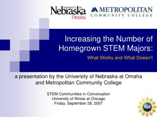 Increasing the Number of Homegrown STEM Majors:   What Works and What Doesn t