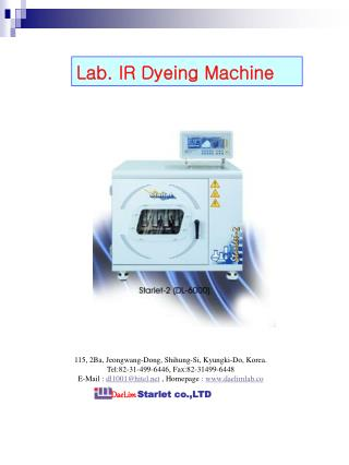 Lab. IR Dyeing Machine
