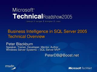 Business Intelligence in SQL Server 2005  Technical Overview
