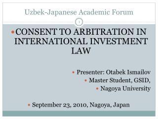 Uzbek-Japanese Academic Forum