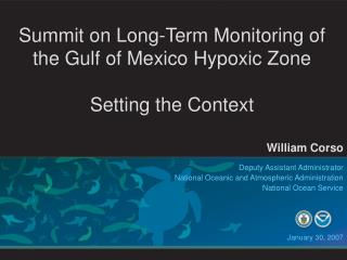 Summit on Long-Term Monitoring of the Gulf of Mexico Hypoxic Zone  Setting the Context