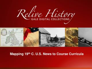 Mapping 19th C. U.S. News to Course Curricula