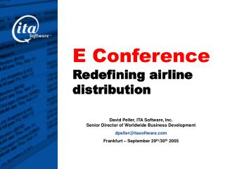 E Conference  Redefining airline distribution