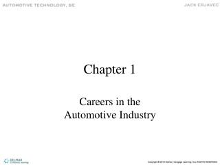Careers in the  Automotive Industry