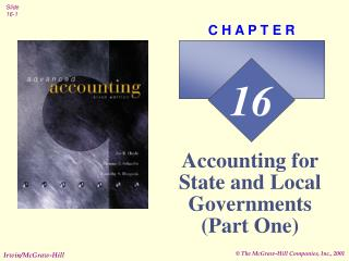 Accounting for State and Local Governments Part One