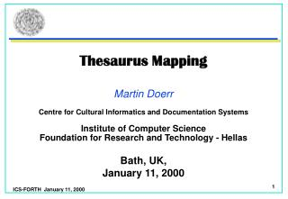 Thesaurus Mapping