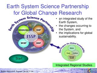 Earth System Science Partnership for Global Change Research