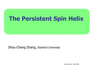 The Persistent Spin Helix