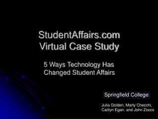 StudentAffairs  Virtual Case Study