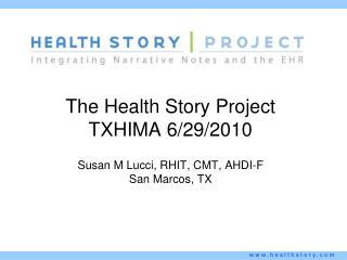 The Health Story Project TXHIMA 6