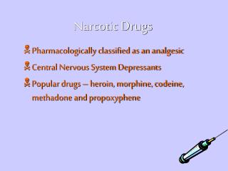 Lecture:Forensic Toxicology : Drugs