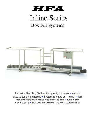HFA  Inline Series Box Fill Systems