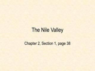 The Nile Valley