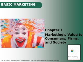 Chapter 1 Marketing s Value to Consumers, Firms, and Society
