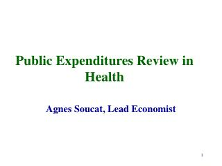 Public Expenditures Review in Health