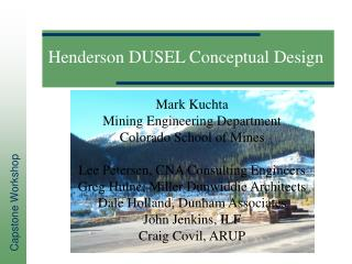 Henderson DUSEL Conceptual Design