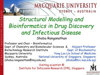 Structural Modelling and Bioinformatics in Drug Discovery and Infectious Disease