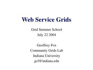 Web Service Grids