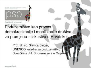 Poduzetni tvo kao proces demokratizacije i mobilizacije dru tva za promjenu   iskustva u Hrvatskoj