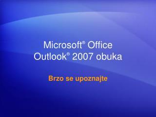 Microsoft  Office  Outlook  2007 obuka