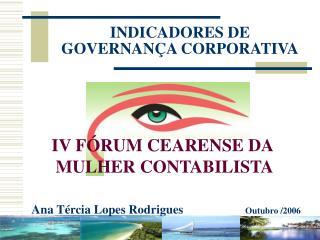 INDICADORES DE GOVERNAN A CORPORATIVA