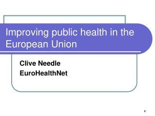 Improving public health in the European Union