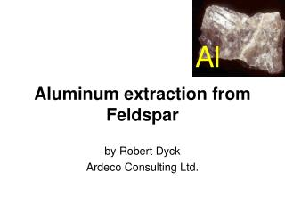 Aluminum extraction from Feldspar