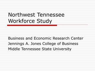 Northwest Tennessee Workforce Study