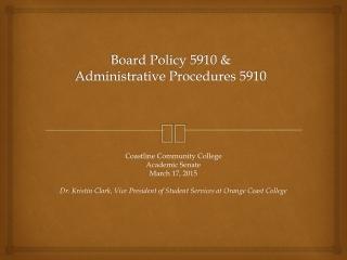 Civil Rights Awareness     Administrative Procedures