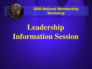 2009 National Membership Workshop