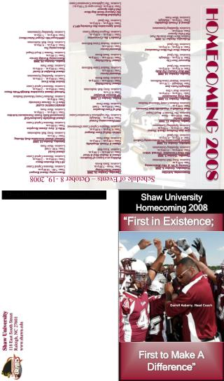 Shaw University Homecoming 2008