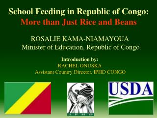 School Feeding in Republic of Congo:  More than Just Rice and Beans