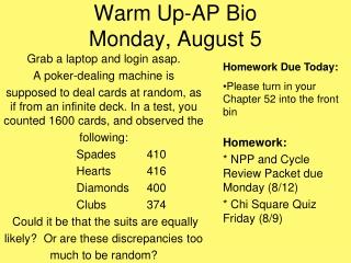 Warm Up 8-15-2012