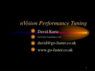 NVision Performance Tuning