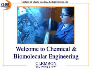 Welcome to Chemical  Biomolecular Engineering