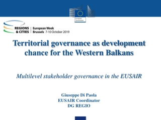Territorial management and Institutions