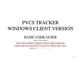 PVCS TRACKER WINDOWS CLIENT VERSION
