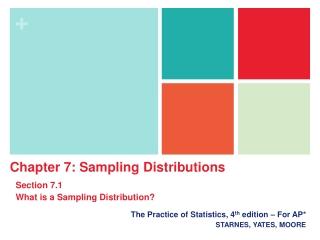 AP Statistics Chapter 7