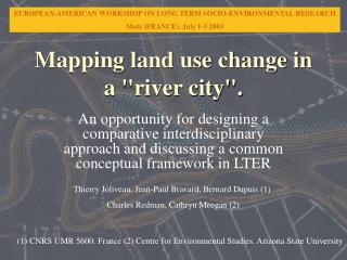 Mapping land use change in a river city.