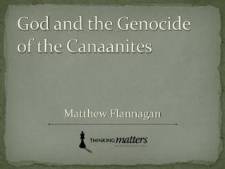 God and the Genocide of the Canaanites