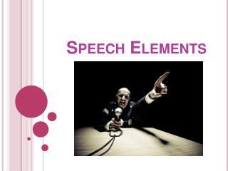 Speech Elements