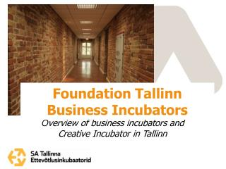 Overview of business incubators and Creative Incubator in Tallinn